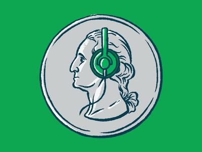 Social Listening For Sales Editorial Illustration listening sales headphones president washington quarter currency money coin portrait drawing illustration