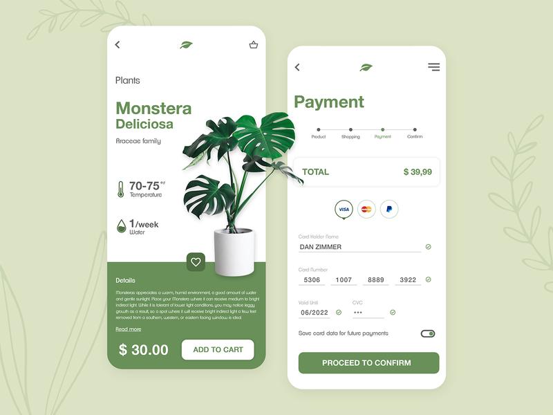 Payment Plants Shop - UI