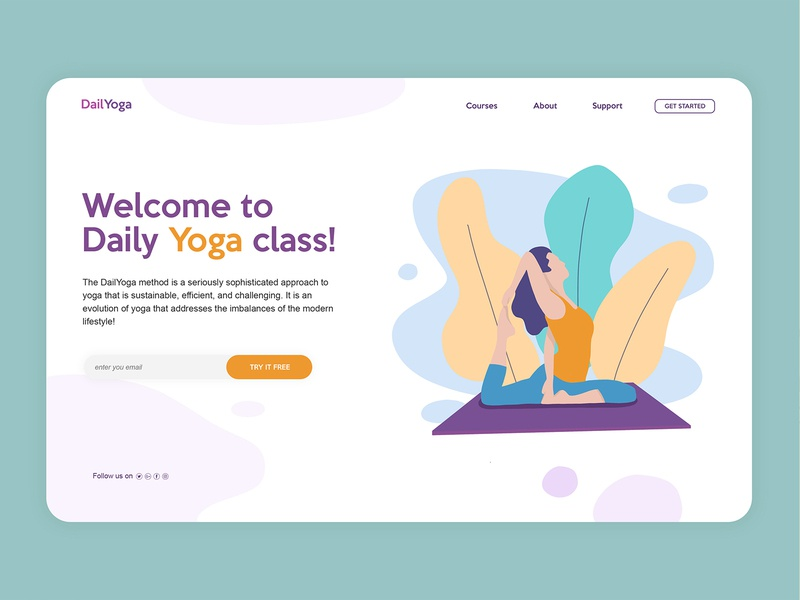 Yoga Course - Landing Page UI