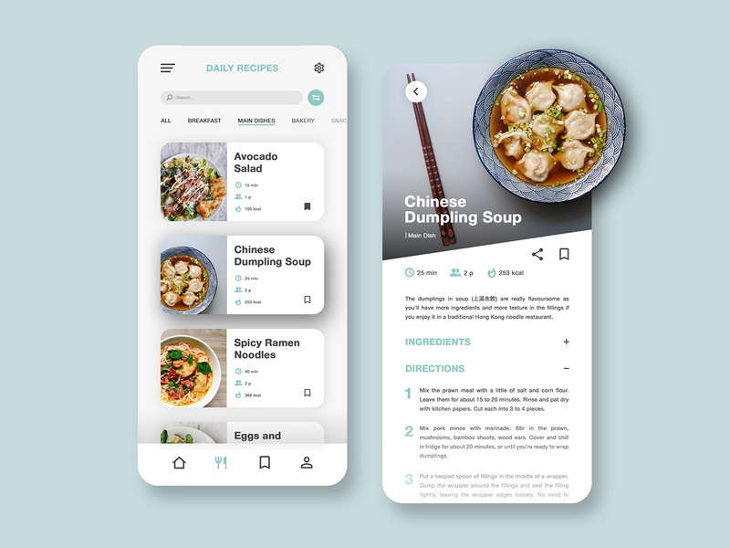Recipes App food app food mobile design chef cusine cooking app cooking recipe app ui recipe app recipe mobile app ui mobile app user interface dailyuichallenge daily ui ui design interface design interface