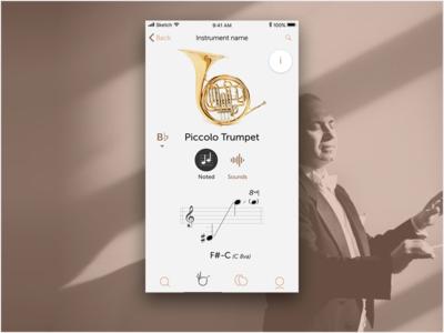 WIP Music app ios ux ui mobile music
