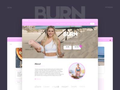 Burn fitness wordpress shopify web ux ui
