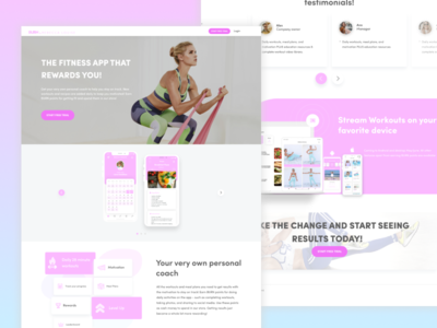 Website for BURN: Rebecca Louise Fitness mobile app