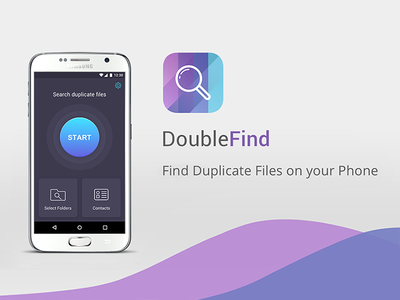 DoubleFind scanning find duplicates android design folders duplicate ui ux application mobile app
