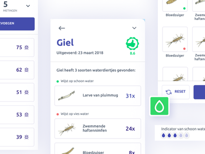 Waterdiertjes.nl - UI design utrecht karta datadesign interactive tool citizen science mapviewer gis figma debut sketch app appdesign coding waterdiertjes.nl uix ui
