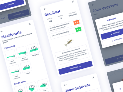 Waterdiertjes.nl - UI design datadesign interactive gis mapviewer ux kit insect water icondesign iconography icon figma sketch appdesign coding waterdiertjes.nl ui