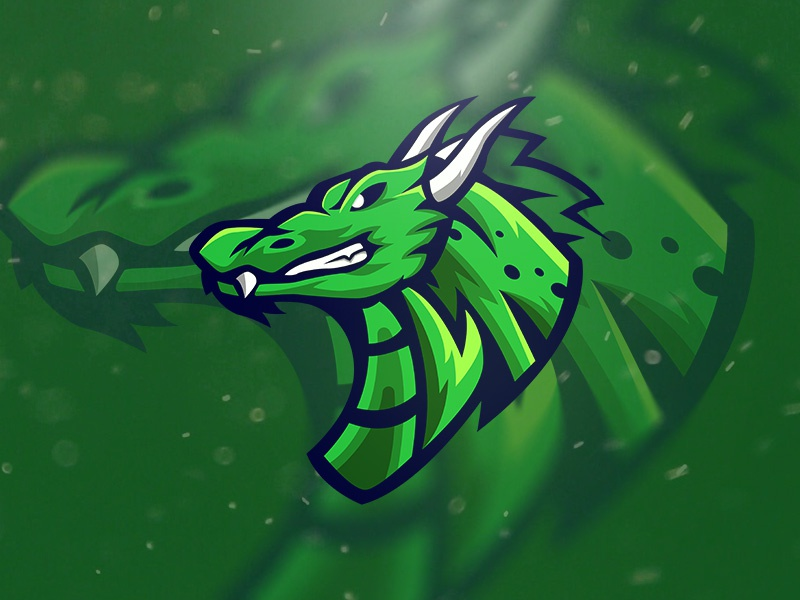 Dragon Esport Logo gaming game character dragon esport esports logo branding green esportlogo esports mascot logo team logo team esport animal dragons dragon