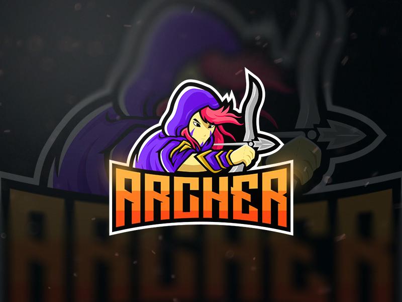 Archer Mascot Esport Logo gaming logo design esports logo esportlogo esport logo esports esport mascotlogo mascot archerlogo archer