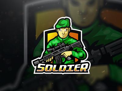Soldier Sniper Esport Logo