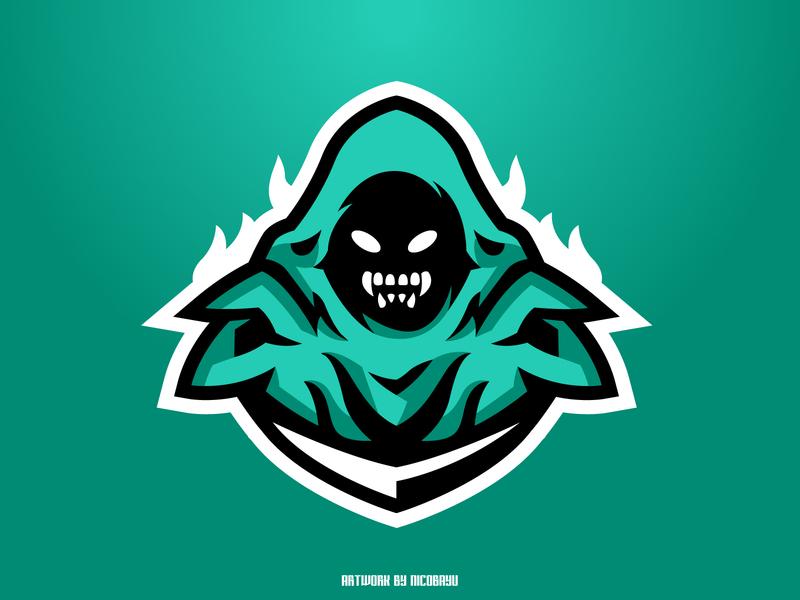 Ghost Mascot Logo