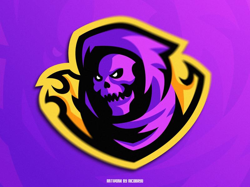 The Reaper Esport Logo | Reaper Mascot logo