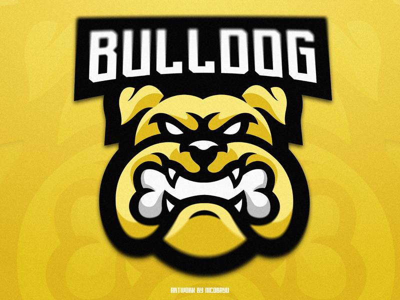 Bulldog Esports Mascot Logo