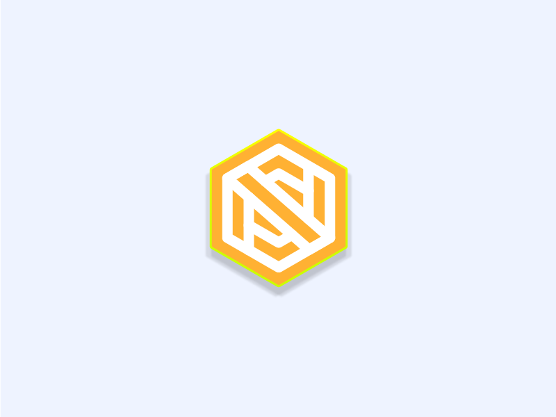 N Logo pastel orange letter n logo badge icon