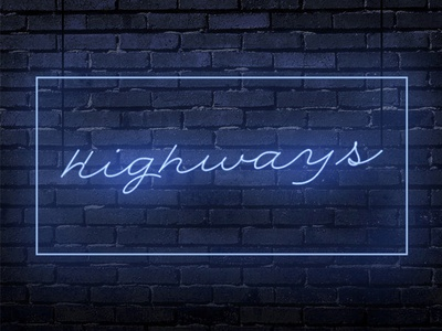 """""""Highways"""" by Tony B (Cover art) cover art music tony b highways neon lights lights neon covers rb"""