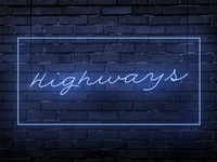 """Highways"" by Tony B (Cover art)"