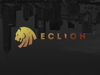 Eclion Logo logo dark project branding lion lettering