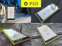 Lumia 1520 Mock ups (FREE PSD)