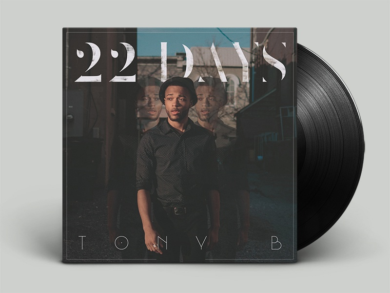 """22 Days"" Tony B's cover album pop cd album cover art music"