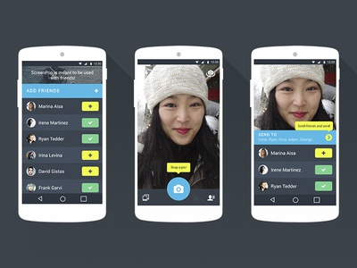 ScreenPop Redesign Concept redesign material design android app