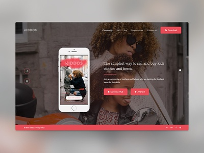 Kiddos Landing Page app android kids iphone website page landing page kiddos