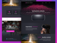 Dream Cinema landing page | Home landing page samsung gear vrcinema vr
