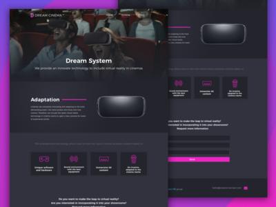 Dream Cinema landing page | System & Films