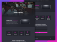 Dream Cinema landing page | System & Films