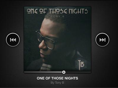 One Of Those Nights single player music tony b one of those nights iphone art cover