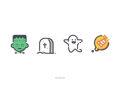 Halloween illustration icon pictogram spirit friendly casper ghost bubble spooky rip gravestone creepy cemetery zombie scary monster horror halloween frankenstein character