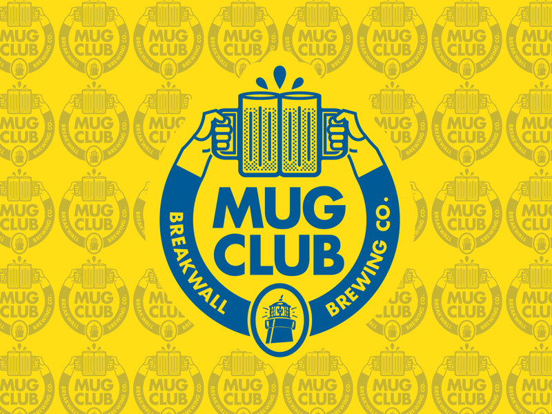 Mug Club Logo vector thick lines one color vintage graphic design brand design design illustration cheers craft stein welcat mug club beer logo craft beer beer logomark branding logo