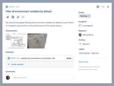 Jira's new issue details view