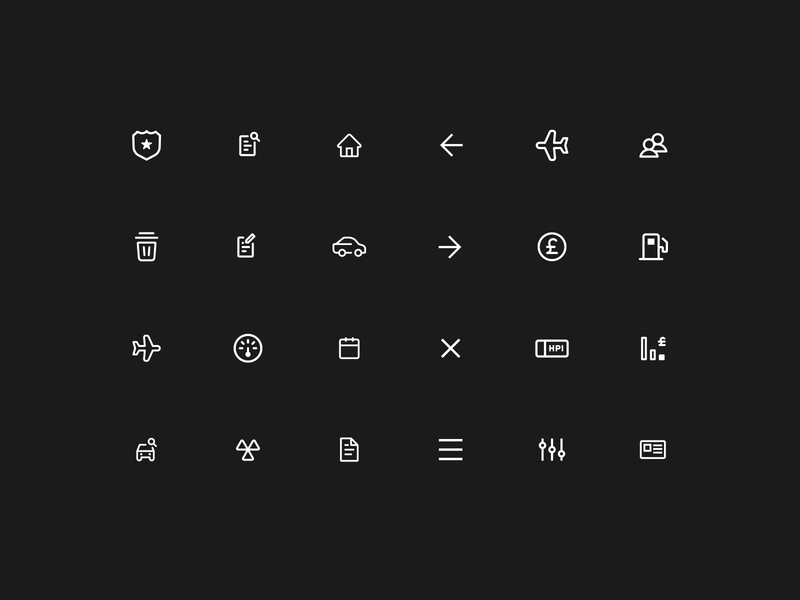 Icon library web icon vector app ui illustration icons design
