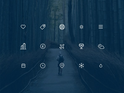 Travel icons set ui design design web travel ui icons