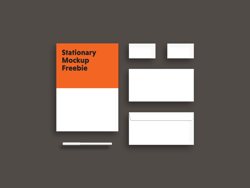 Download Stationary mockup freebie