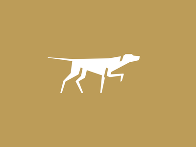 Pointer icon gundog hunting pointing pointer illustrator animal minimal design logo dog