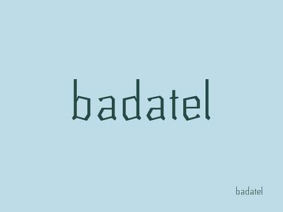 Badatel typeface type typeface font design logo serif typography glyphs typo