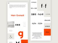 Metr Grotesk single page