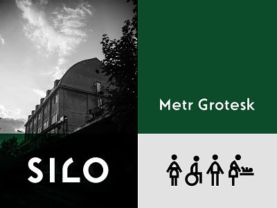 Silo identity pictogram icon font type graphic design ci logo