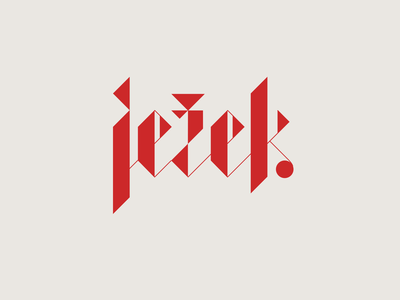 Ježek Brewery identity font type typography typo blackletter design logo