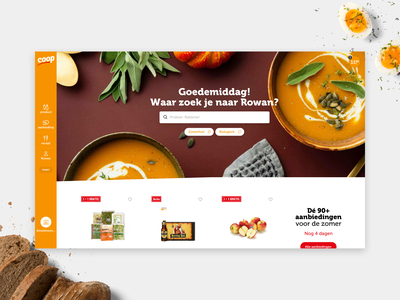 Redesign for Coop Supermarkets ecommerce shopping grocery micro animation visual design ui ux supermarket dutch