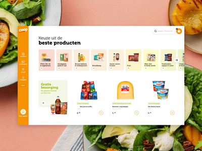 Coop Supermarkets ecommerce design ux ui