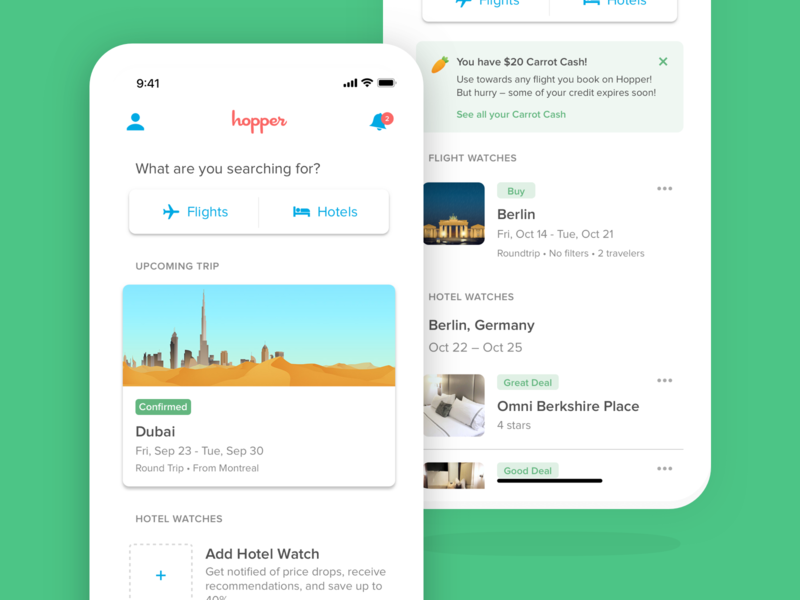 Home Screen ios navigation product design app mobile travel interface ux ui