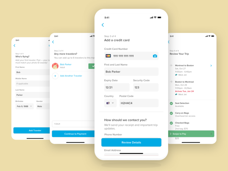 Guest Checkout minimal interface navigation ios product app mobile travel ux ui