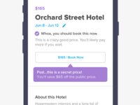 Request a Hotel to Book