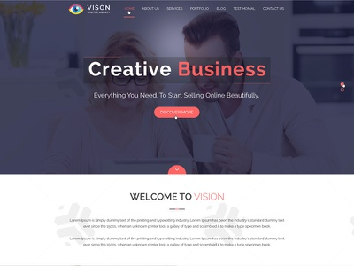 Vision Digital Agency – Corporate One Page PSD Template morden yankeethemes yankeeinfoweb onepage retina psd businness bootstrap