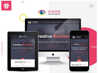 Vision Digital Agency – Multipurpose One Page HTML Template portfolio onepage html5 html css3 creative corporate business bootstrap agency
