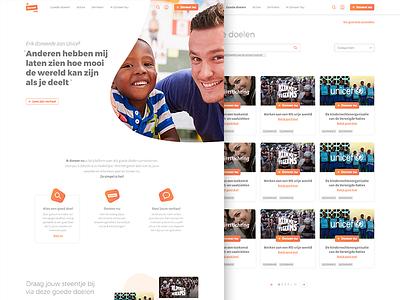 Ikdoneer.nu website storytelling donate concept visual design design