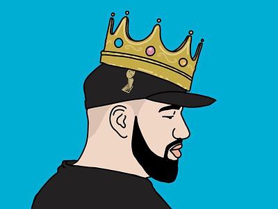 King Drake procreate crown illustration drake