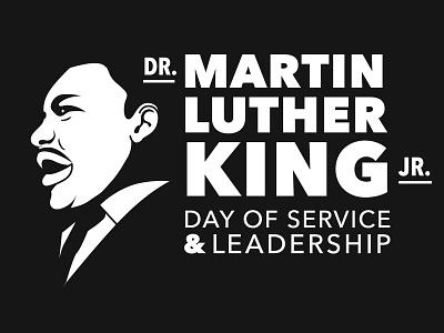 Dr. Martin Luther King Jr. logo african american black history tshirtdesign design typography black and white vector portrait martin luther king mlk