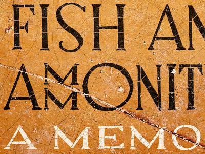 Dancing Fish And Ammonites lettering book cover memoir